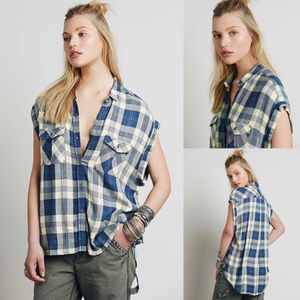 Rails X Free People Sleeveless Button Up Flannel